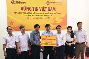 Tập đoàn T&T Group hỗ trợ người dân Hải Dương bị ảnh hưởng dịch