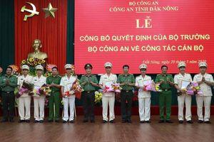 Công an Đắk Nông luân chuyển nhiều trưởng phòng