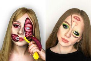 Cô gái 20 tuổi nổi tiếng với tài trang điểm 3D như thôi miên