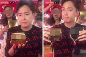 Ngô Kiến Huy bị 'ném đá' khi livestream bán hàng fake