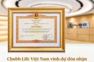 Chubb Life Việt Nam đón nhận bằng khen Thủ tướng Chính phủ