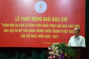 Phát động Giải báo chí về thảm họa da cam ở Việt Nam