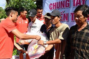 Đội Viettel tham gia thiện nguyện sau trận thắng Khánh Hòa