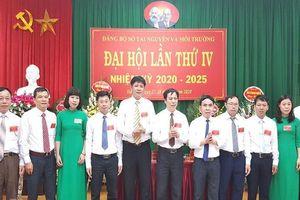 Đảng bộ Sở Tài nguyên và Môi trường Hà Nam tổ chức thành công Đại hội Đảng bộ nhiệm kỳ 2020-2025