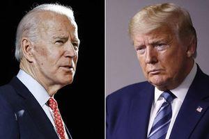 Ứng cử viên Biden dẫn trước Tổng thống Trump về tỷ lệ ủng hộ