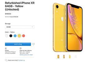 Apple chào bán iPhone XR tân trang, giá từ 499 USD