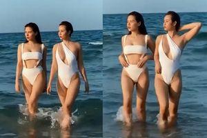 Kỷ niệm 7 năm tình bạn, Huyền Lizzie và Phanh Lee 'chặt chém' với đồ bơi siêu bạo
