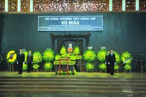 Lễ tang đồng chí Vũ Mão theo nghi thức cấp cao