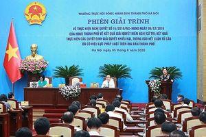 Phiên giải trình HĐND TP Hà Nội về giải quyết kiến nghị cử tri và giải quyết KNTC