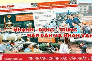 Báo Hà Tĩnh giành giải A Giải Báo chí Trần Phú năm 2019