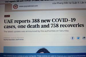 UAE có 388 ca nhiễm COVID-19 ngày 21-6, ai dám đến đá?