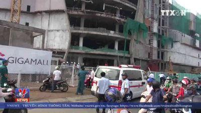 3 công nhân bị thương nặng do sập giàn đỡ