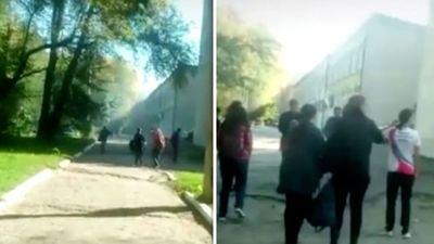 Video giây phút kinh hoàng trong vụ xả súng ở trường học Crimea