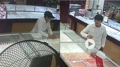 Lào Cai: Thanh niên bảnh bao cướp vàng trong sự ngơ ngác của chủ tiệm