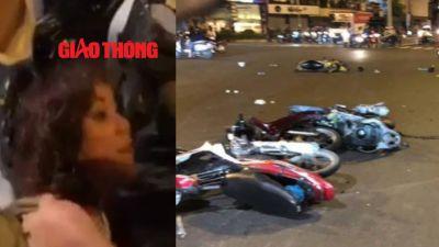 Cận cảnh hiện trường vụ nữ tài xế BMW gây tai nạn kinh hoàng