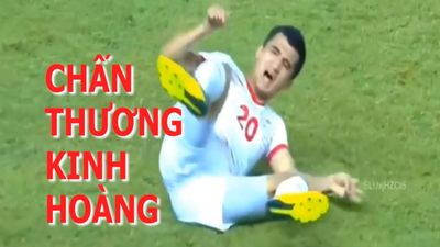 Cận cảnh chấn thương kinh hoàng của cầu thủ U.19 Tajikistan