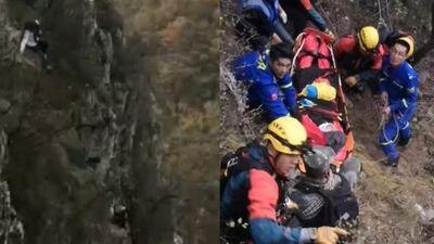 Du khách nữ rơi kinh hoàng từ vách núi Vạn Lý Trường Thành
