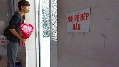 Chồng trẻ cầm bó hoa rập rình ở cửa phòng sinh: 'Chị ơi vợ em đẻ xong chưa ạ?'