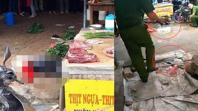 Hải Dương: Cô gái bán đậu bị bắn 3 phát, chém chết giữa chợ
