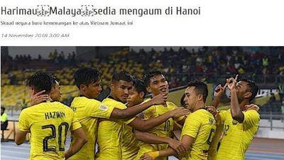 Báo chí Malaysia dọa dẫm 'vùi dập' đội tuyển Việt Nam tại AFF Cup 2018