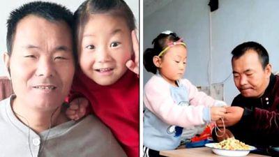 Cảm động bé gái 6 tuổi chăm sóc cha tàn tật