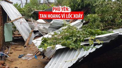 Không kịp đóng cửa, dân Phú Yên nhốn nháo tìm chỗ núp vì lốc xoáy