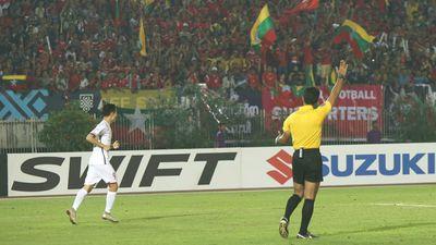 Clip bàn thắng vào lưới Myanmar của Văn Toàn bị trọng tài từ chối