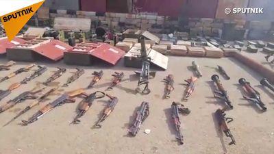 Xem kho vũ khí quân đội Syria vừa tịch thu có cả máy bay trinh sát
