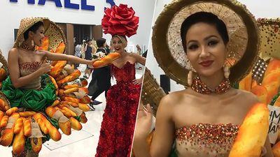 HOT: Fan Thái phấn khích khi H'Hen Niê trình diễn trang phục 'Bánh mì' tại Miss Universe 2018