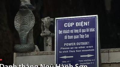 Mưa ngập, điện mất khiến nhiều danh thắng Đà Nẵng dừng đón khách