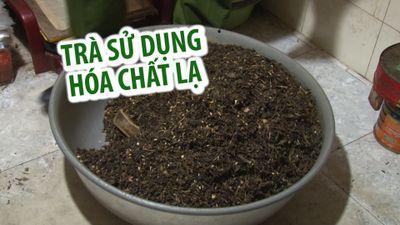 Cơ sở sản xuất trà tẩm ướp bằng hóa chất không rõ nguồn gốc