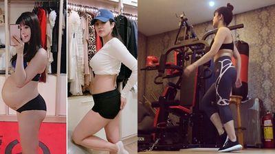 Diệp Lâm Anh khoe clip trong phòng tập gym, dân mạng lo lắng 'vẫn đang ở cữ cơ mà'