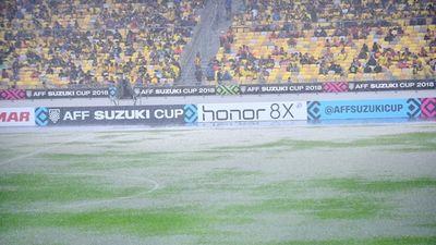 Mưa không ngớt, nguy cơ hoãn lại trận chung kết AFF Cup lượt đi giữa ĐT Việt Nam - Malaysia