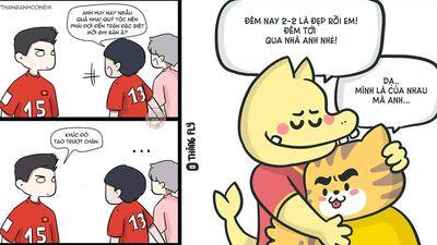 Những mẩu truyện tranh chứng minh đội tuyển Việt Nam 'sinh ra là để yêu thương'