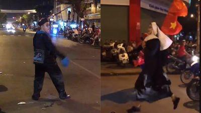 'Đi bão' chất như thanh niên Kiên Giang: Đóng giả người nhện, ác quỷ, ma cương thi náo loạn đường phố