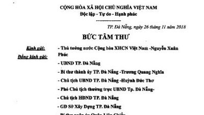 Bí thư Đà Nẵng yêu cầu xác minh thông tin 'bức tâm thư' dự án Nam Ô