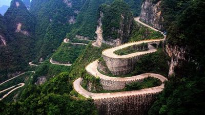 Clip: 'Tận mục' Thiên Môn Sơn - cung đường nguy hiểm nhất hành tinh