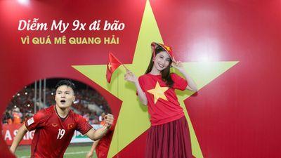 Diễm My 9X ấn tượng với Quang Hải trong trận chung kết AFF Cup 2018