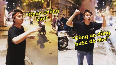 Có tâm như diễn viên Duy Khánh: Nhắc nhở CĐV đi 'bão' chạy cẩn thận cực 'lầy lội'