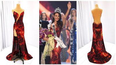 Cận cảnh quá trình hoàn thành kiệt tác đầm dạ hội giúp mỹ nhân Philippines đăng quang Hoa hậu Hoàn vũ 2018