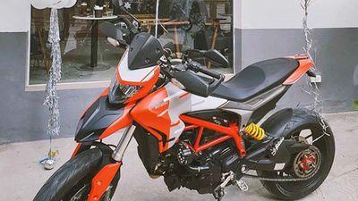 Bà vợ Hà Tĩnh 'đập thùng' Ducati Hypermotard 939 tặng chồng