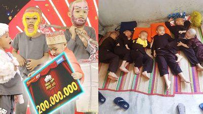 Cuộc sống 5 chú tiểu mồ côi sau thắng 300 triệu ở 'Thác thức danh hài'