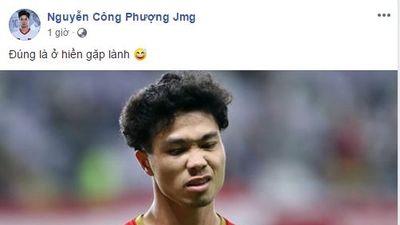 'Lọt qua cửa hẹp' vào vòng 1/8 Asian Cup, Công Phượng - Văn Đức tự hào nói: 'Ở hiền thì gặp lành'