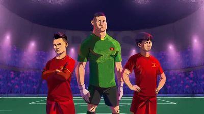 Công Phượng cùng Việt Nam tung hoành Asian Cup qua phim hoạt hình