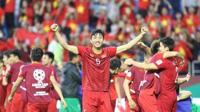 Clip đội tuyển Việt Nam ăn mừng sau khi giành quyền vào tứ kết