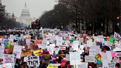 Toàn cảnh cuộc tuần hành của phụ nữ trên khắp nước Mỹ