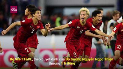 Tuyển Việt Nam nhận 'mưa tiền thưởng' sau trận thắng Jordan