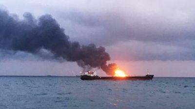 Cháy tàu ở eo biển Kerch, 14 người thiệt mạng