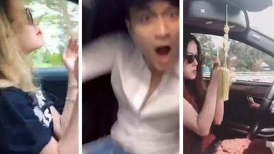 Clip: Biến xế hộp thành 'sàn quẩy', sao Việt nhận 'gạch đá' vì gây nguy hiểm khi lái xe