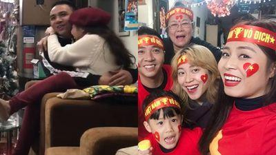 Tung clip cổ vũ tuyển Việt Nam, BTV Hoàng Linh bị nhắc nhở vì hành động quá tình với hôn phu trước mặt em gái